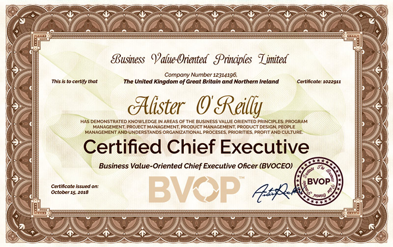 BVOP Chief Executive Certification